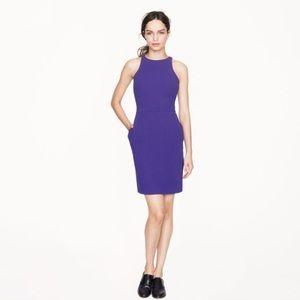 J.Crew Byzantine Purple Cutaway Crepe Dress